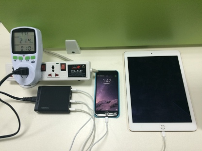 A high capacity charger charging iPhone 6 at faster rate